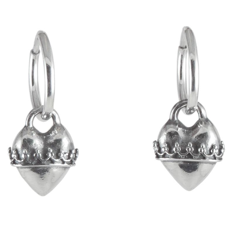 earring heart wrap hoop front