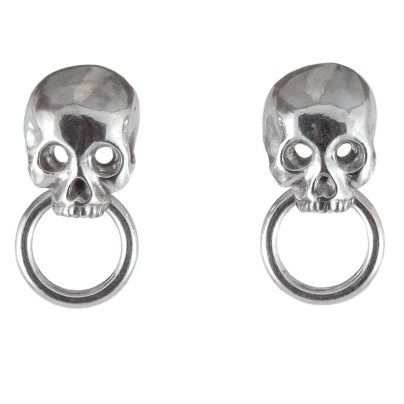 earrings skull doorknockers front